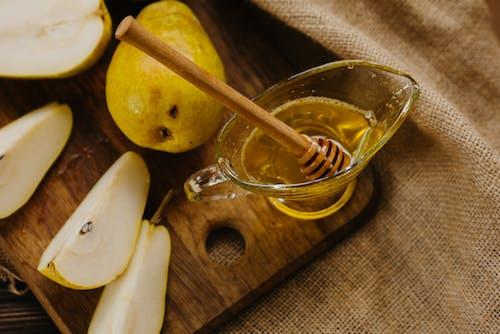 Sliced Apple on Clear Glass Saucer
