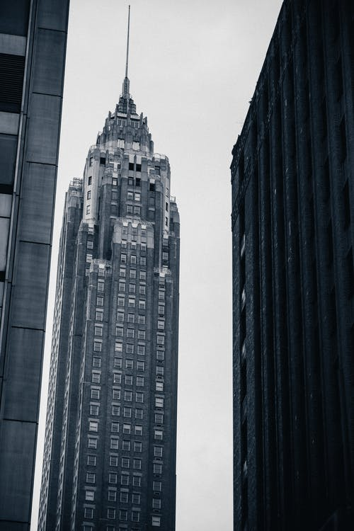 Rascacielos Moderno En El Centro De La Megalópolis