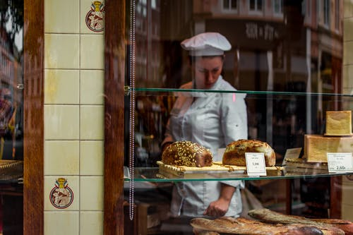 Photographie Macro De Pain Près Du Chef