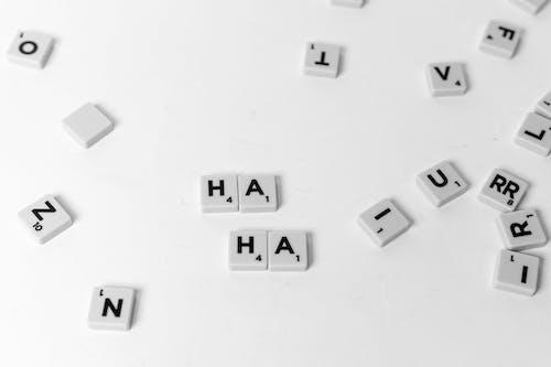 White and Black Letter Letter Blocks
