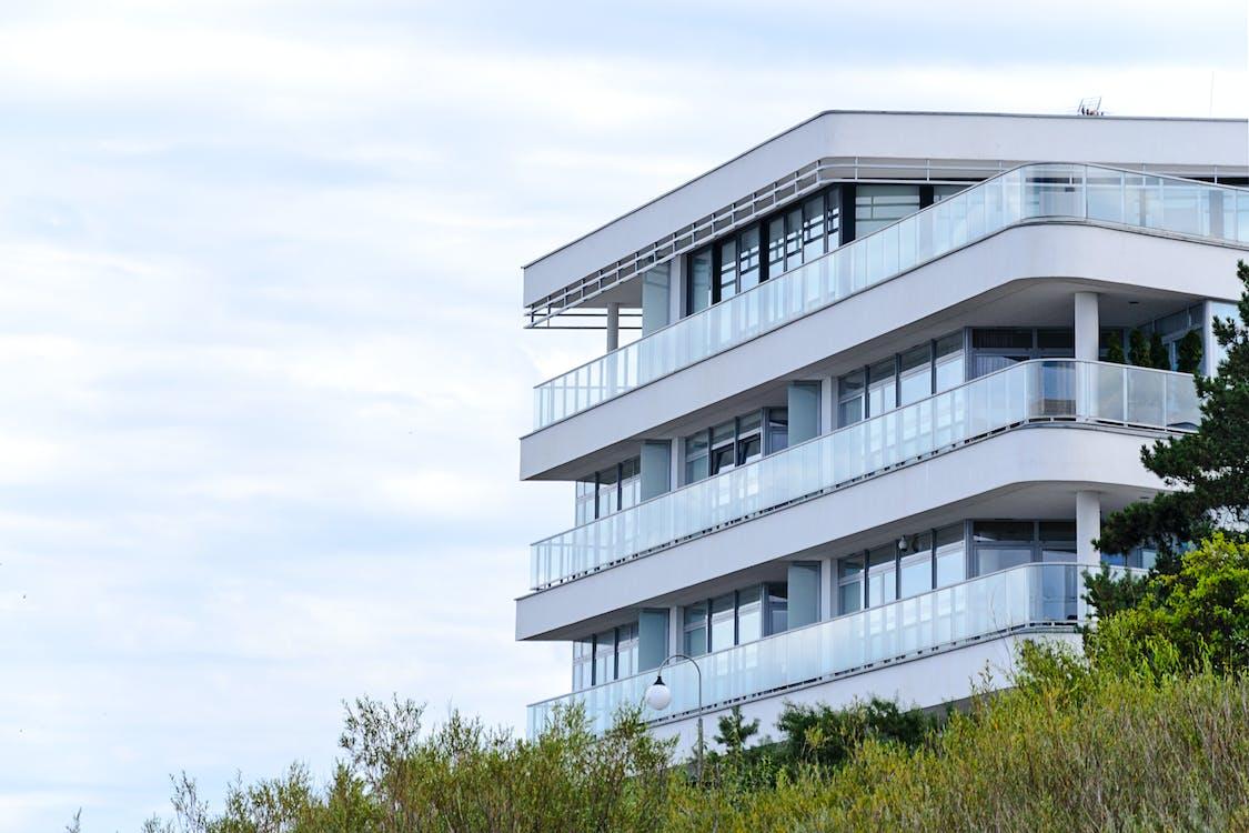 arkitektonisk design, arkitektur, balkong