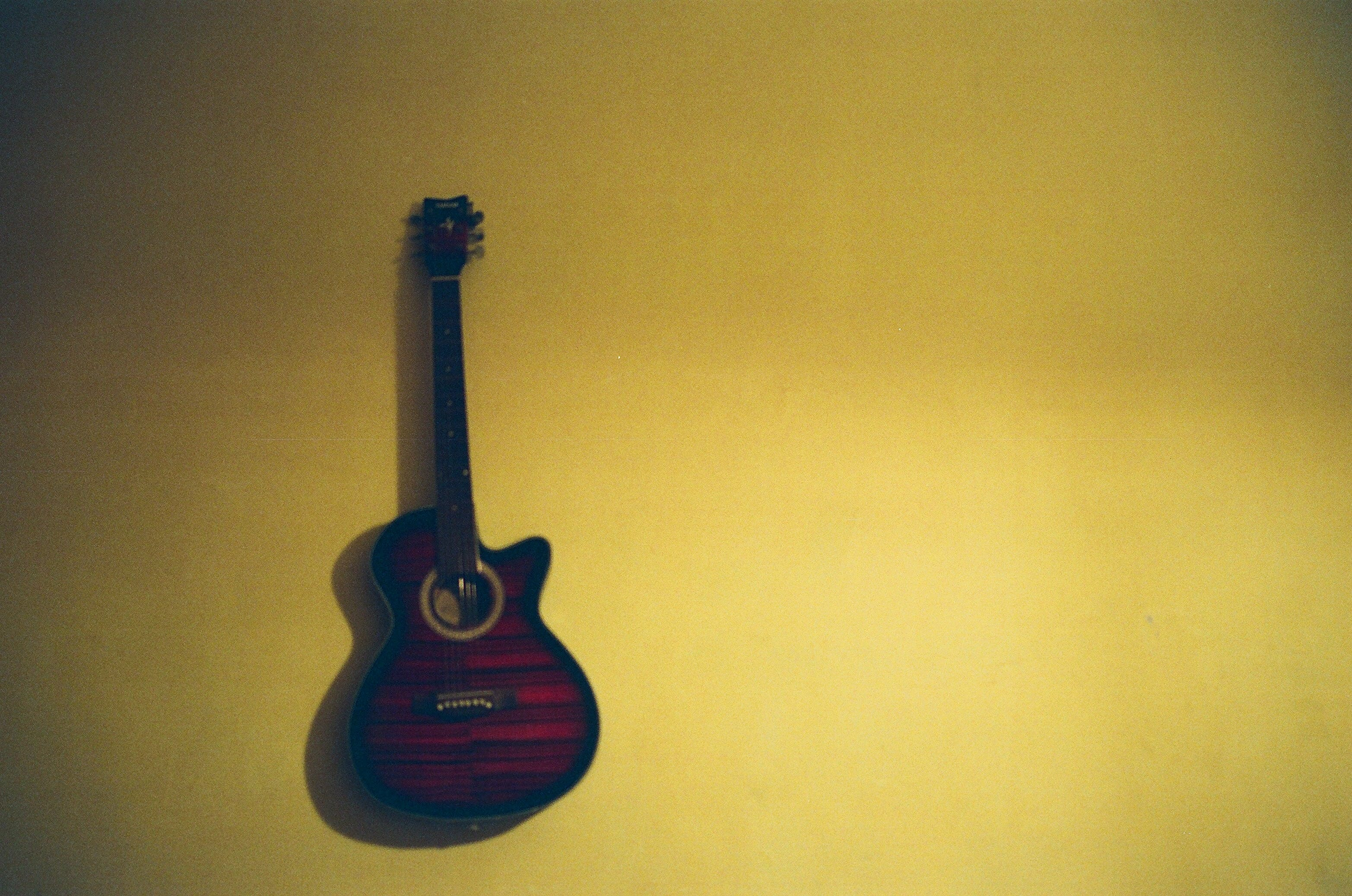 Free stock photo of acoustic guitar, analog camera, film camera, FM10