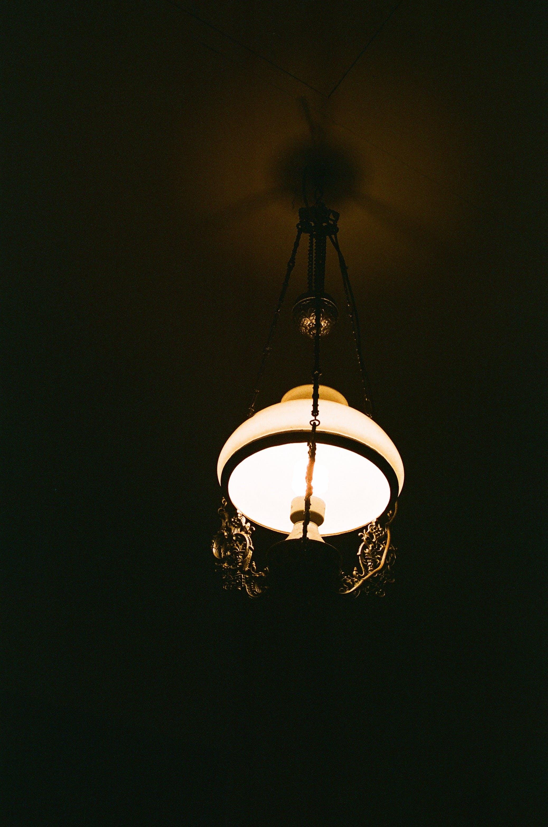 Free stock photo of analog camera, antique, antique lamp, dark