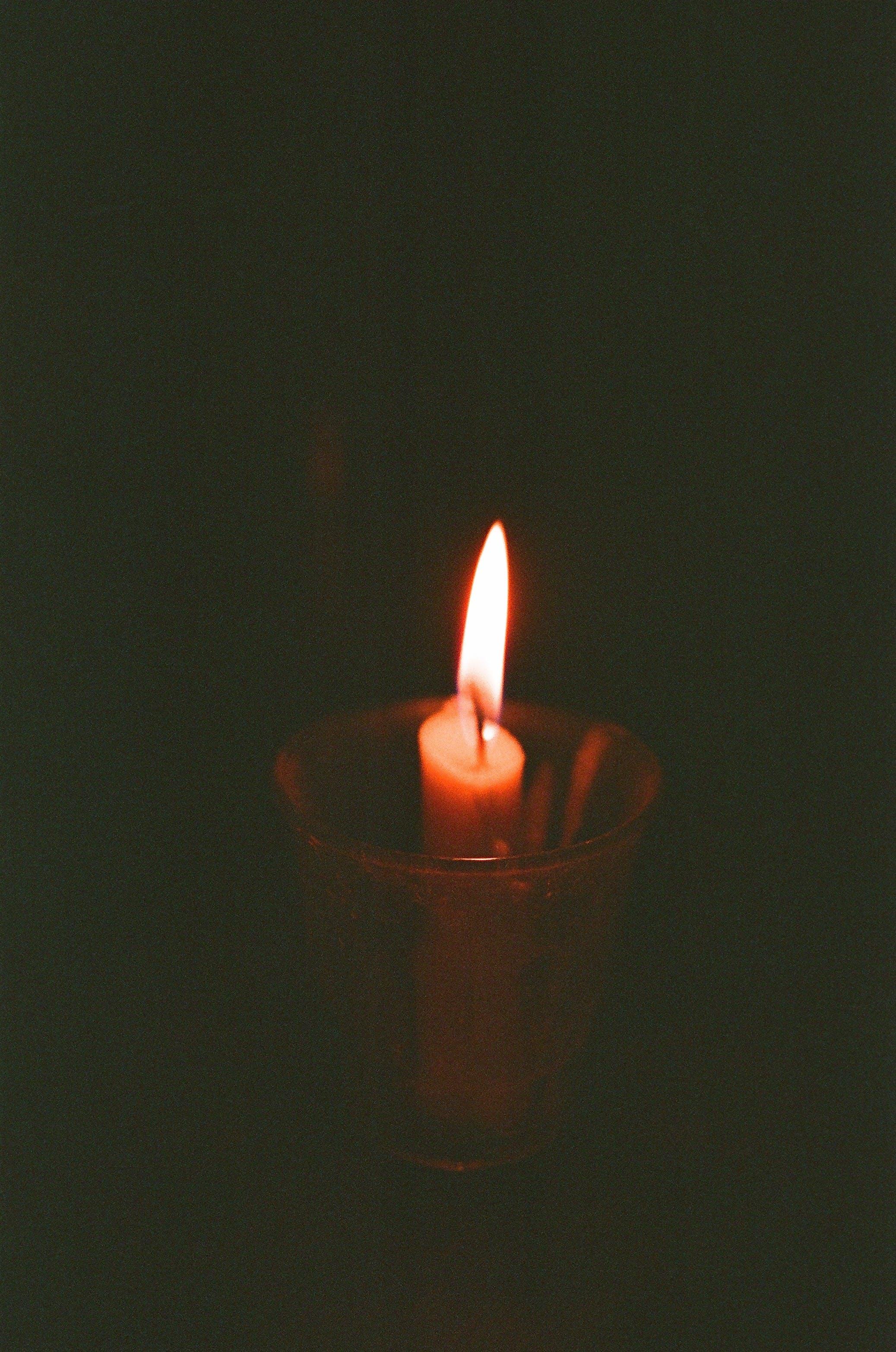 Free stock photo of analog camera, candle, candlelight, film camera