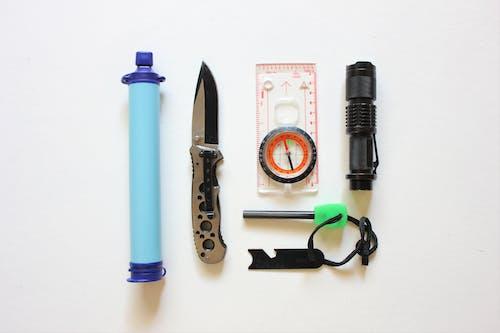Survival Kit on White Background
