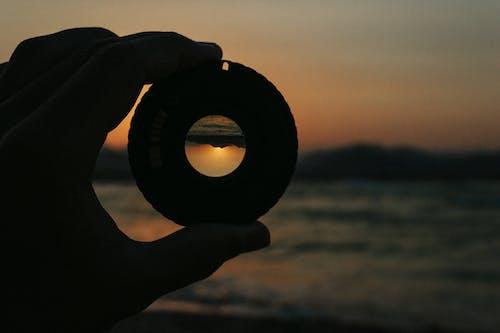 Free stock photo of camera lens, lens, light, mountain