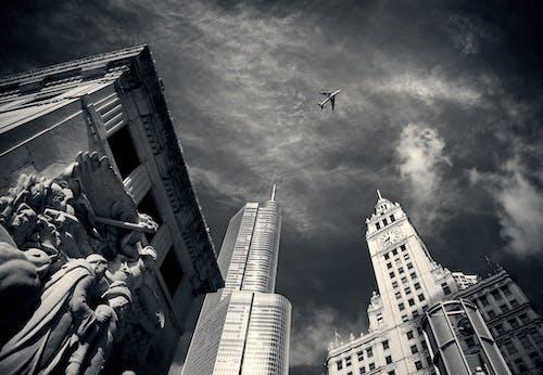 Kostenloses Stock Foto zu architektur, chicago, flugzeug, gebäude