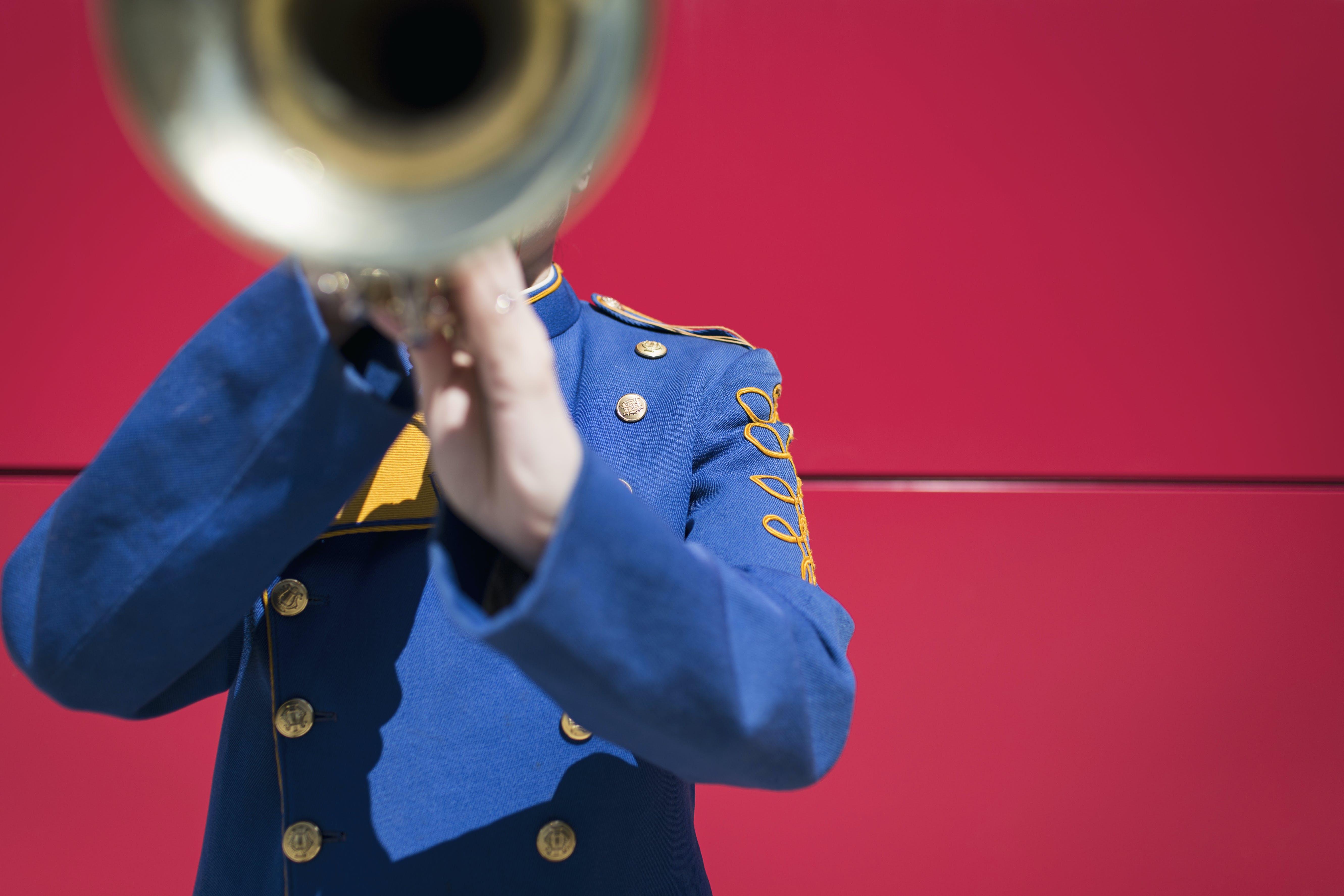 Man Holding Trumpet