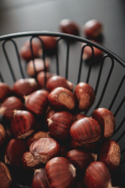 Close-Up Shot of Chestnuts