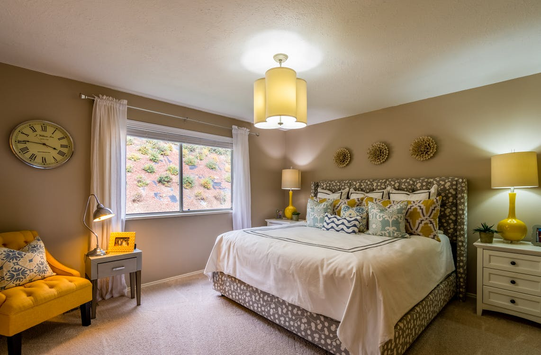 Inside of a Cozy Bedroom