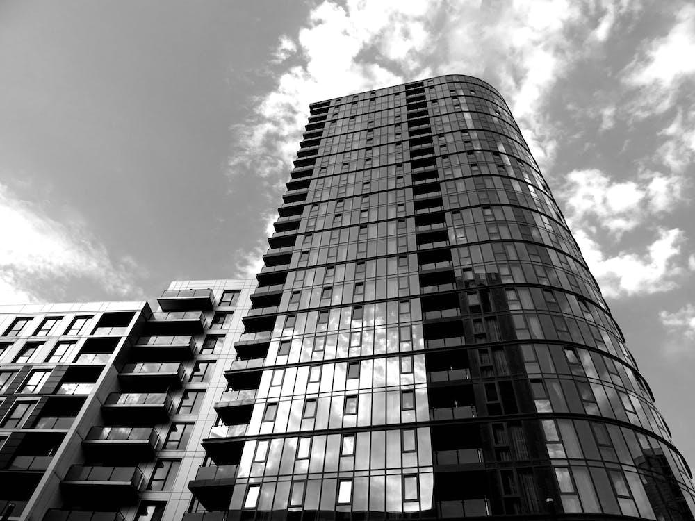 arkitektonisk design, by, bybilde