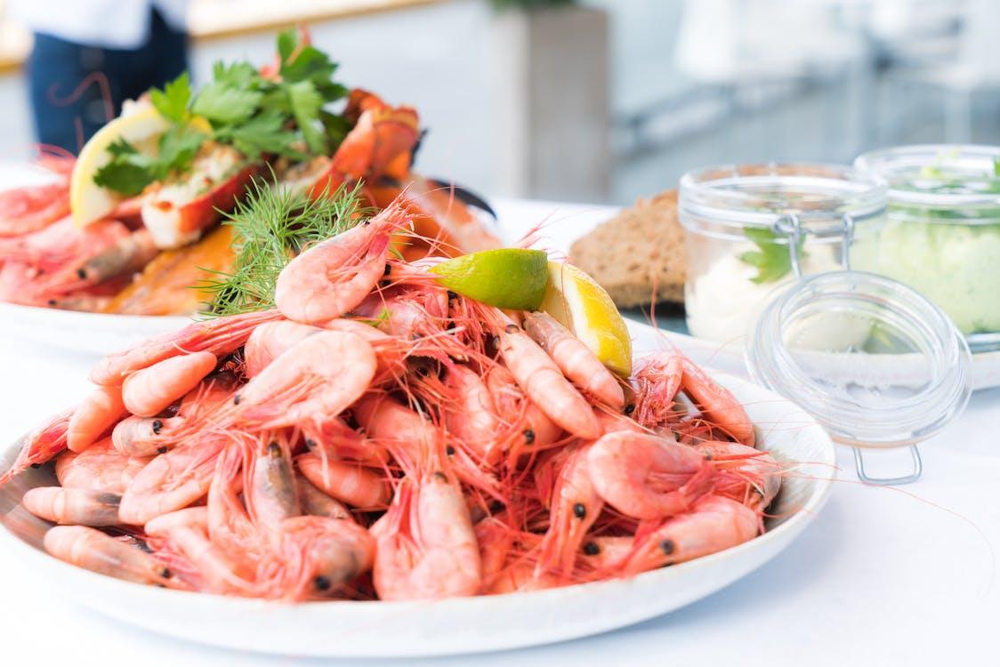 bucătărie, cină, crab