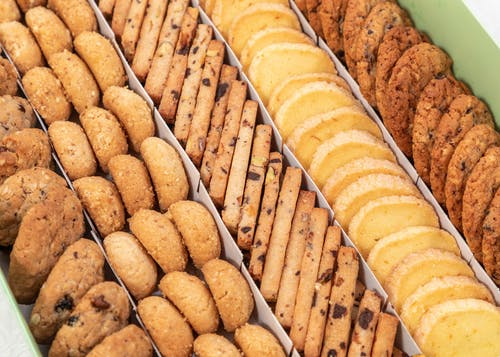Box with assorted cookies for sale