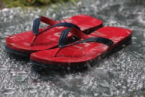 Free stock photo of flipflops, holiday, rain