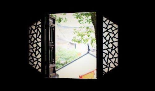 คลังภาพถ่ายฟรี ของ สถาปัตยกรรมจีน, หน้าต่างโบสถ์