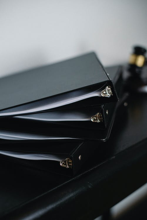 Set of various folders for documents