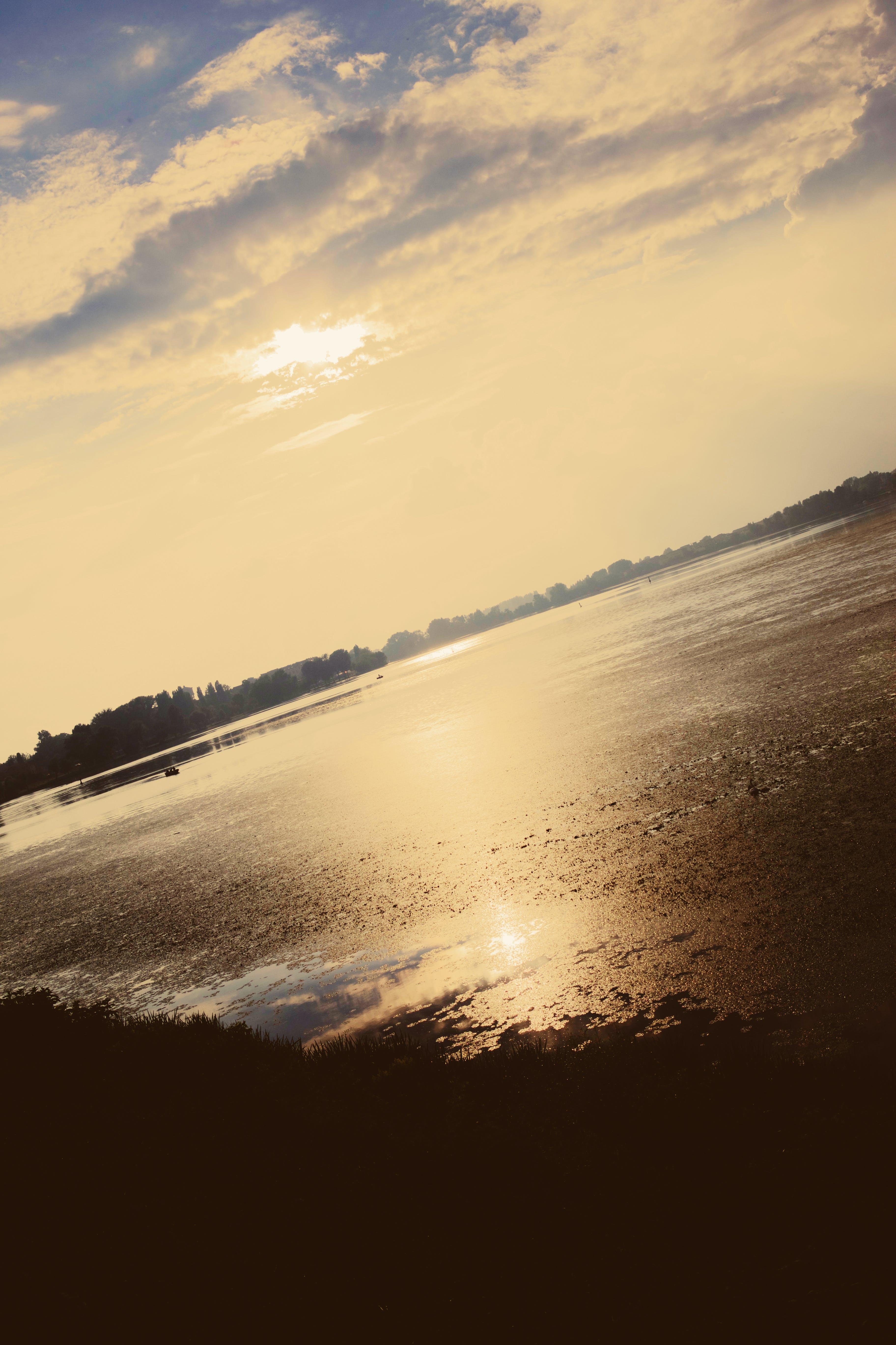 evening sky, evening sun, golden hour