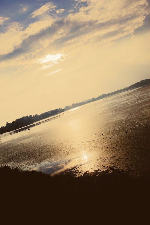Imagine de stoc gratuită din apus, cer de seară, ora de aur, reflexii