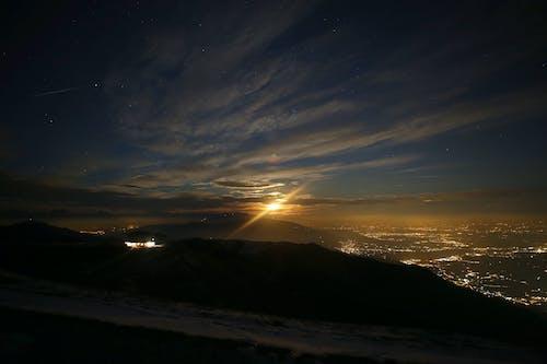 Kostnadsfri bild av blå himmel, gyllene sol, kvällshimmel, kvällssol