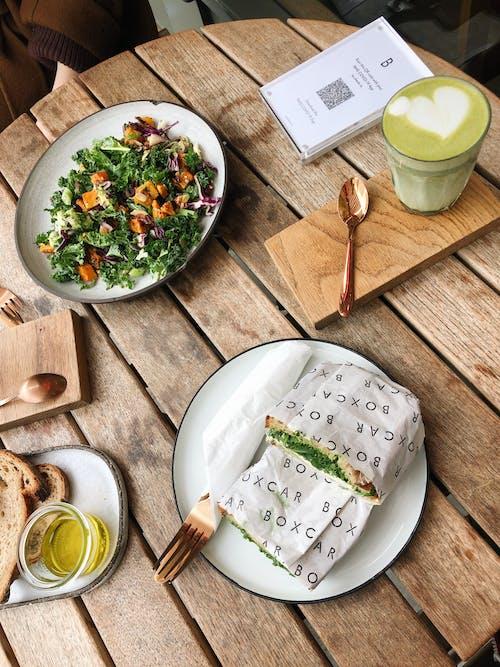 Green Vegetable Salad on White Ceramic Bowl