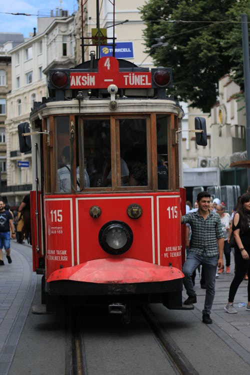 Red Tram on the Street