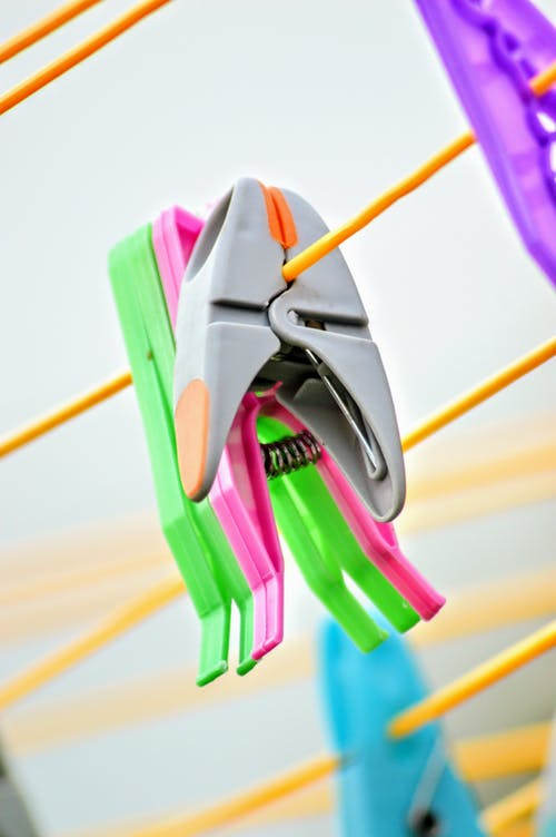 Free stock photo of grey, pegs, washing line