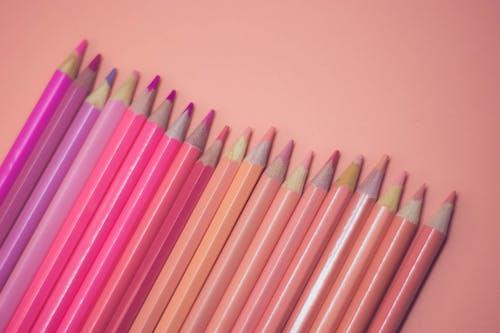 彩色鉛筆, 柔和的, 柔和的背景 的 免費圖庫相片