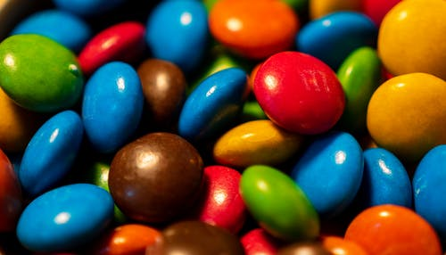 Red Blue Yellow and Green M Ms Candies