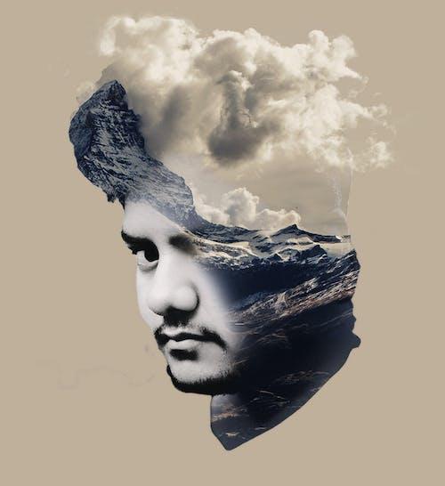Free stock photo of adobe photoshop, boy, clouds