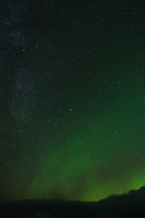 Starry Night on an Aurora Sky