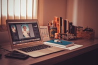 apple, books, desk