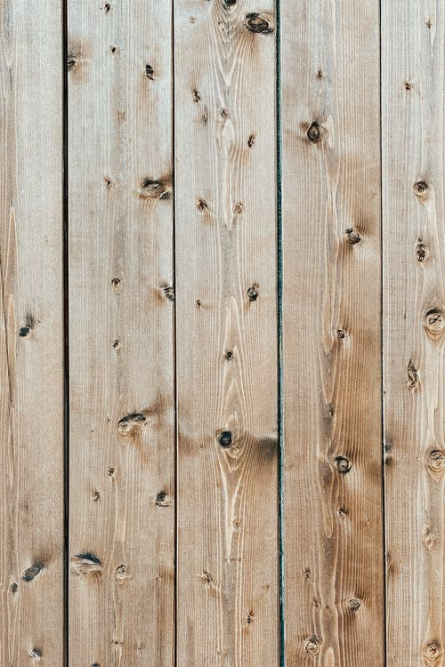 Background of light brown wooden boards