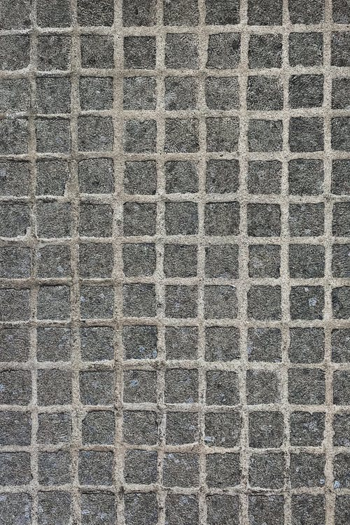 Background of floor with cement grid