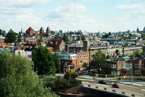 Birds-eye View of City
