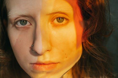 Fotobanka sbezplatnými fotkami na tému detailný záber, kreatívny, maľovanie na tvár