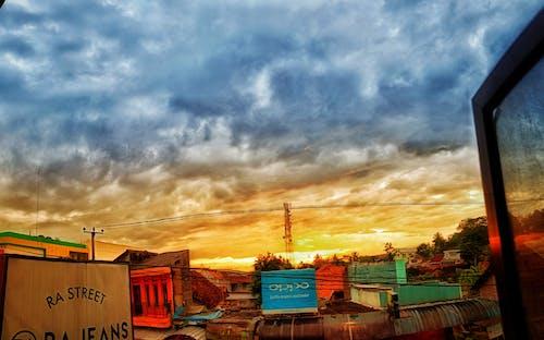 Free stock photo of aerial footage, blue sky, sunrise
