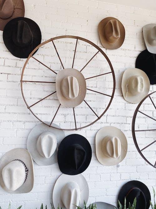 White and Black Fedora Hats