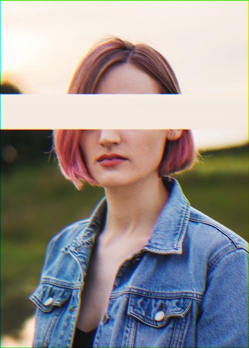 Gratis stockfoto met aesthetisch, denim jacket, esthetiek, glitch