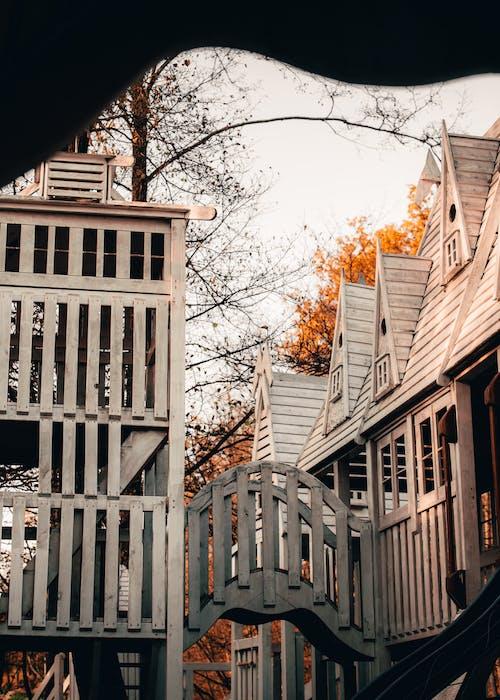 Бесплатное стоковое фото с белый, здание, коричневый, лист