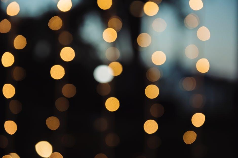 New free stock photo of lights, dark, round
