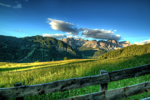 Wooden Fence of Ranch on Highland