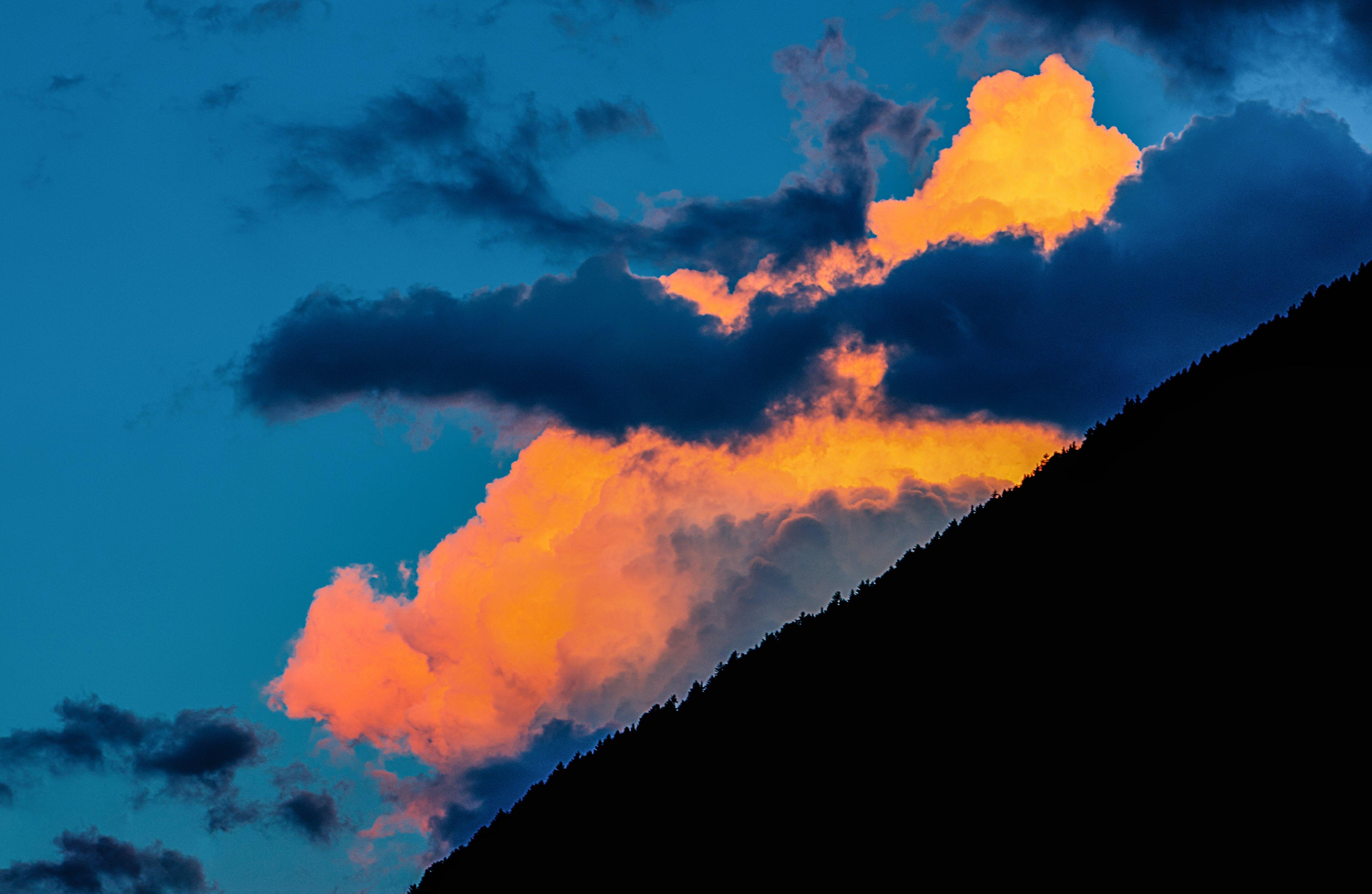 afterglow, backlit, blue sky
