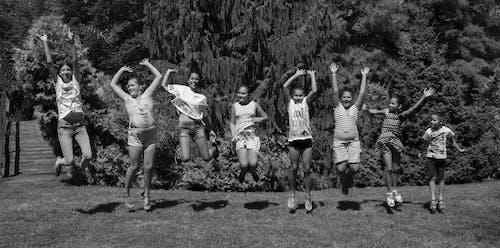 キッズ, クルー, ジャンプの無料の写真素材