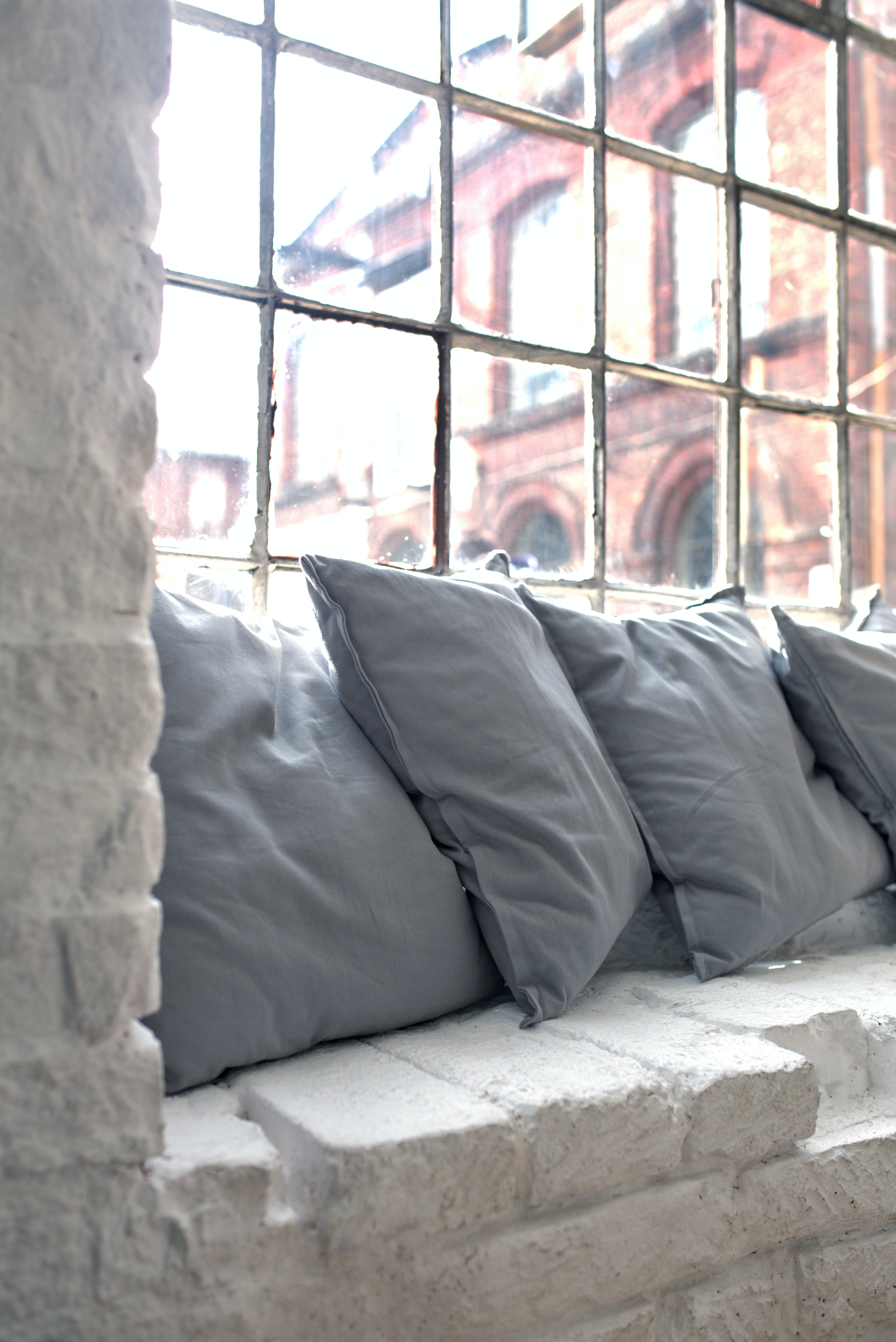 Pillows on the window