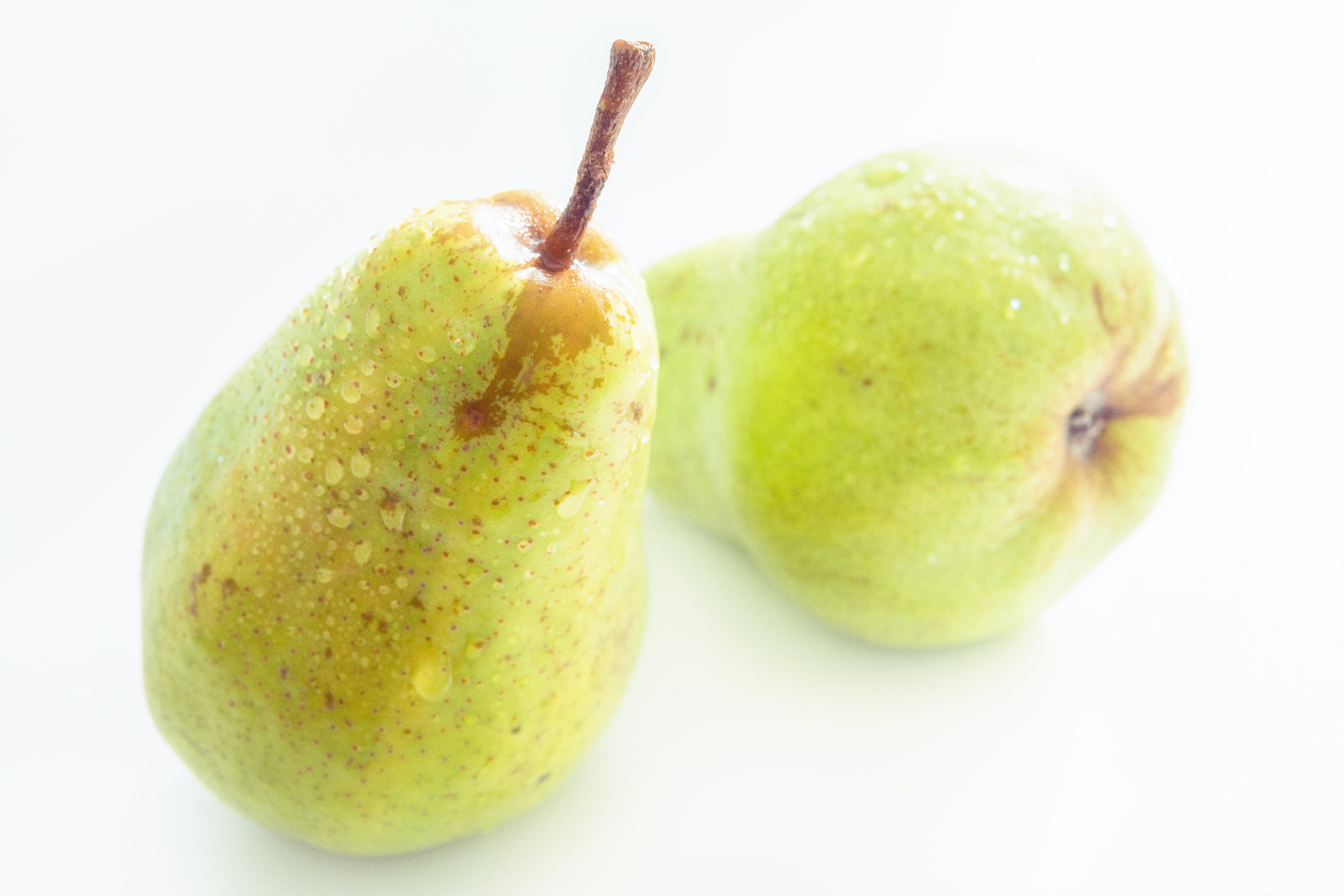Two Green Pear Fruits