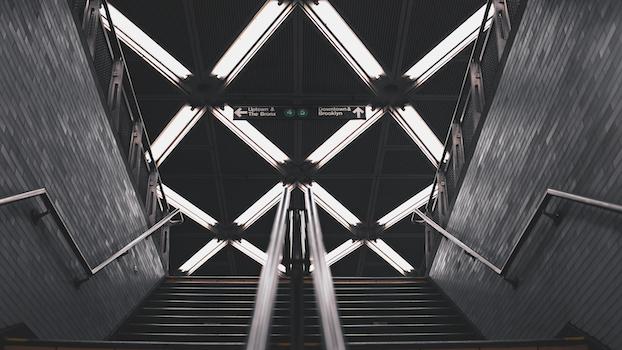 Free stock photo of stairs, city, lights, dark