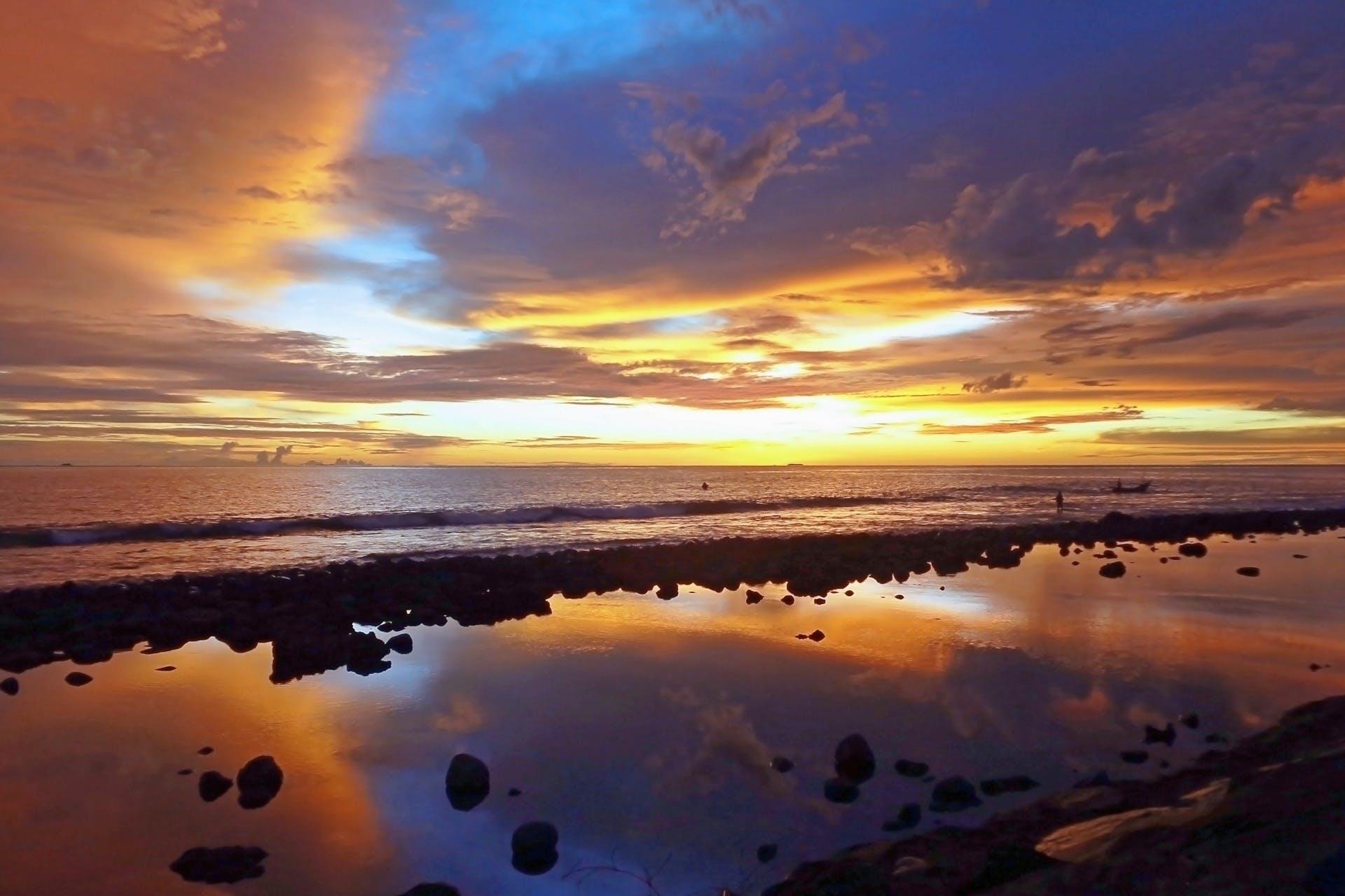 Základová fotografie zdarma na téma horizont, kameny, mávání, moře