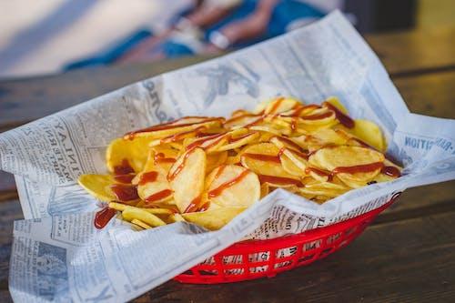 Бесплатное стоковое фото с вкусный, закуска, картофель, картофельные чипсы