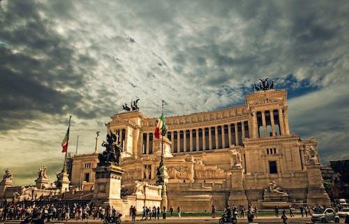 Бесплатное стоковое фото с альтаре делла патрия, архитектура, достопримечательность, европа