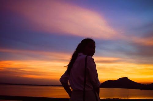 Free stock photo of asian girl, sunset